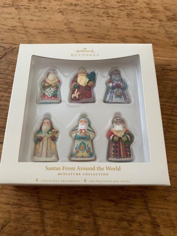Hallmark Ornament 2006 Santas Froms Around the World Set of 6 Miniatures Mini