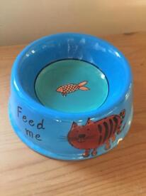 Blue Whittard of Chelsea Cat Feeding Bowl