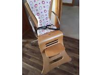 Kuster high chair and toddler seat