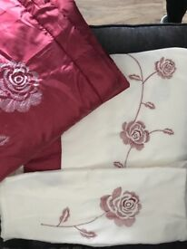 DOUBLE DUVET COVER- with throw and cushion cover