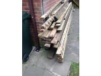 Decking boards and 3x2 bearers