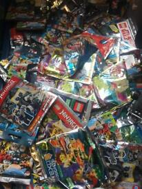 Lego poly bags mainly ninjago friends and a few minifigures batman x450 total bargain price