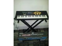 Vintage casio mt-520 keyboard and stand