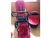 Baby style pram pushchair carrycot