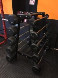 5kg - 50kg fixed barbell Set with Stand - Weights Gym