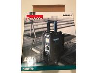 Brand new boxed DMR 102 Makita radio