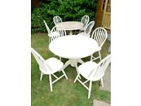 Shabby chic table chairs