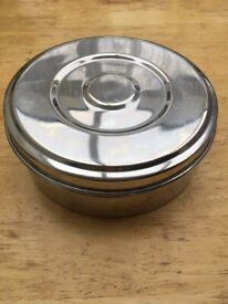 Spice container stainless steel, new