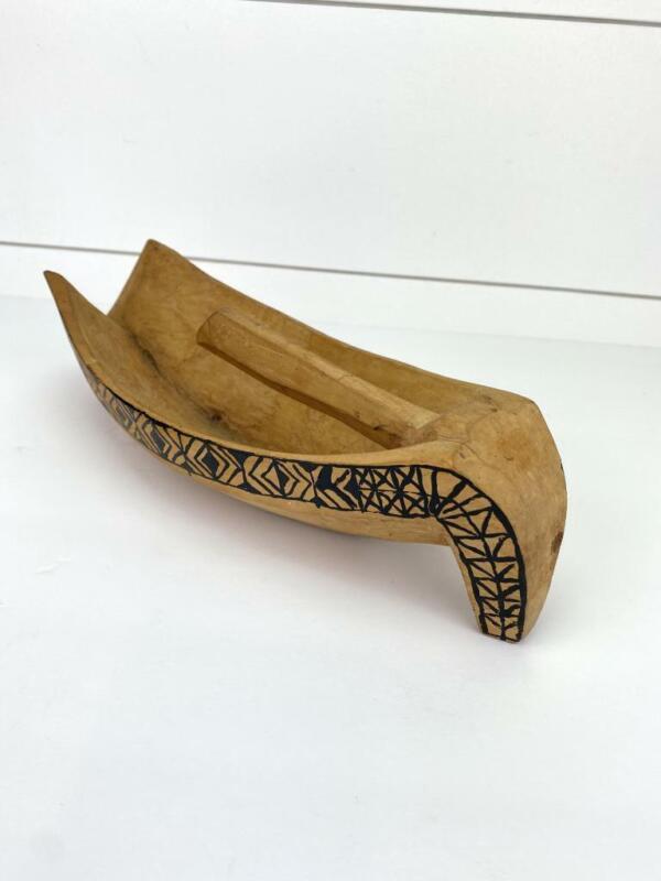 Vintage Hand Carved Wood Tool Scoop Potlatch Bowl Tlingit First Nations ?