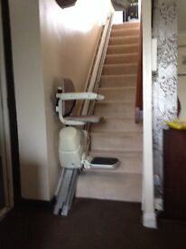 Stairlift by medik tech. Straight lift with chair swivels safe and easy access/exit might deliver