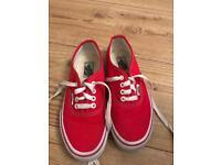 Vans Red size kids 1.5