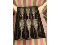 Royal doulton set of 6 wine glasses