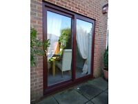 UPVC PATIO DOORS (BROWN OUTSIDE, WHITE INSIDE)