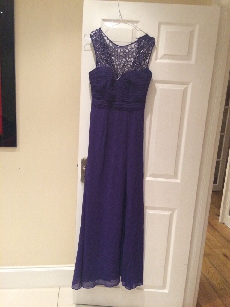 Lipsy long party dressin Amersham, BuckinghamshireGumtree - Lipsy long purple party dress with slit in the front worn only once and very good condition