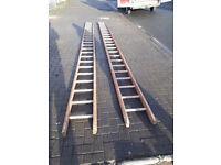 2 19 foot wood ladders