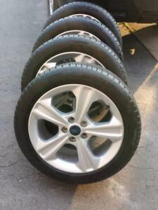 LIKE NEW FORD ESCAPE 2015 FACTORY OEM 17 INCH WHEELS WITH ULTRA HIGH PERFORMANCE  215 / 50 / 17  ALL SEASON TIRES.