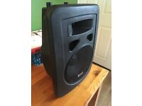 Skytec powered speakers x2 with 8 inch drivers