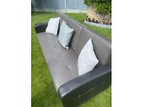 3-seater leather sofa bed only £50