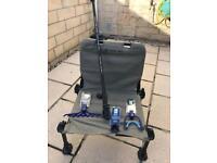 Korum Roving Fishing Chair with Preston Innovation Accessories