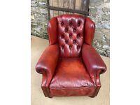 Oxblood Leather TETRAD OSKAR Armchair