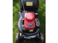 "Honda HRH536 Pro Roller, 21"" Self Propelled Lawnmower. 5.5HP Serviced, C/W New Bag"