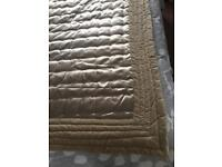 NEXT Quilted Bed Throw Champagne Satin Cotton