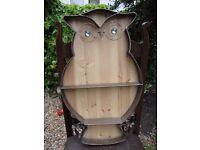 "Owl Shelf. 24"" high 14"" wide."