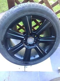 Genuine bmw 17inch alloys alloy wheels and tyres