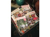 Job lot of country living,homes and interiors, your home magazines