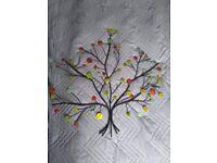 Coloured Metal wall art - tree