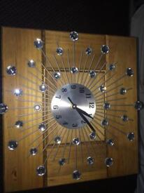 Chandelier and wall clock