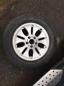 "1x BMW e53 x5 17"" spare wheel alloy wheel with tyre 5x120"
