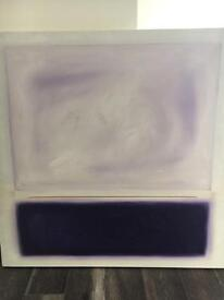 Contemporary Purple and White painting