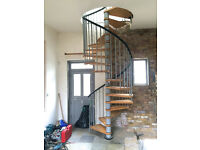 Spiral Stair. Good. Floor to Ceiling = 3.680m To be removed competently and safely by taker.