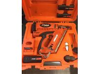Paslode nail gun, in amazing condition,runs brilliant,3 batteries.. got new model reason for selling