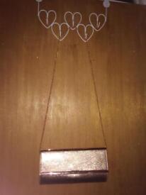 Rose gold clutch/handbag