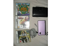 NINTENDO DSi CONSOLE WITH CASE AND GAMES