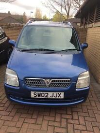 Vauxhall Agila 1.2 low mileage Mot Jan-18