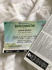 British summer time Hyde park JUSTIN BIEBER Sunday 2nd July