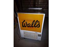 Large twin lid Wall's retro ice cream freezer in good working order