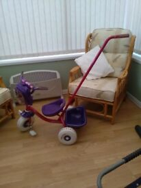 Toddler's trike with parent pole. Used twice.