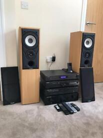 Hi-fi separates suitable for record player