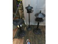 Cast iron garden ornaments