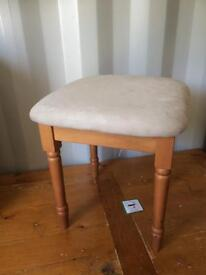 Pine dressing table stool new