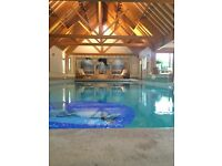 private indoor luxury heated swimming pool to rent family 5