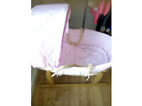MOSES BASKET FOR BABY GIRL