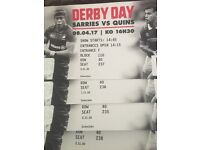 Saracens v Harlequin Derby @Wembley can sell separately