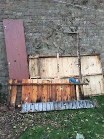 Firewood old shed already demolished and garden