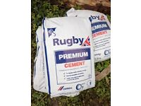 8 x Rugby Premuim cement in plastic bags 25kg