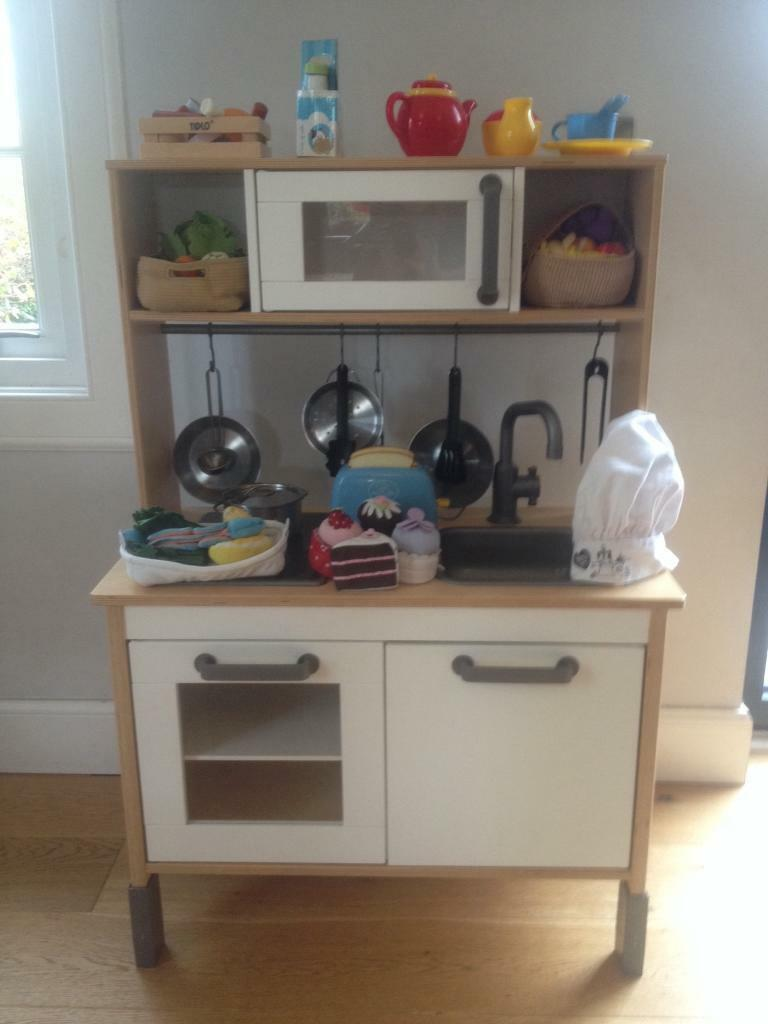 Ikea Duktig Toy Play Kitchen With Extra Cookware Utensils Toaster Tea Set And Food In Longniddry East Lothian Gumtree